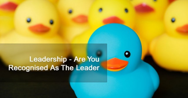 Leadership - Are You Recognised As The Leader