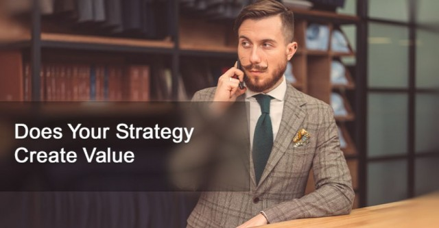 Does Your Strategy Create Value?